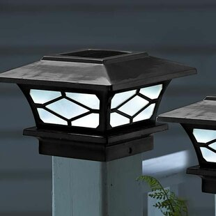 Plow & Hearth 1 Light LED Fence Post Cap (Set of 2)