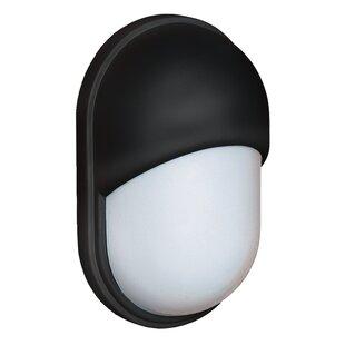 Latitude Run Donnie 1-Light Glossy Glass Outdoor Flush Mount