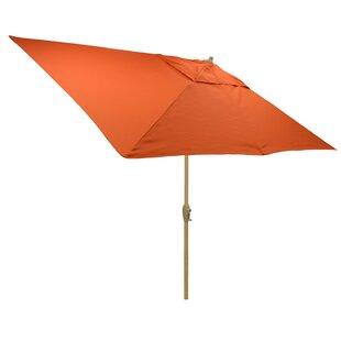 Hulme Solid 6.5' x 10' Rectangular Market Umbrella by Highland Dunes