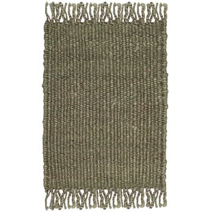 Comparison Lookout Fiber Hand-Woven Green Area Rug By Laurel Foundry Modern Farmhouse