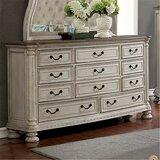 Faucett 11 Drawer Dresser with Mirror by One Allium Way®