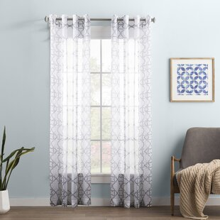 Wayfair Basics Geometric Sheer Grommet Single Curtain Panel by Wayfair Basics™
