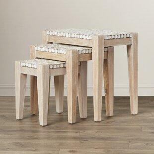 Beachcrest Home Sherlyn 3 Piece Nesting Table Set