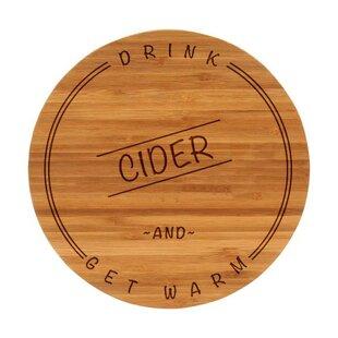Drink Cider Bamboo Fall Cutting Board