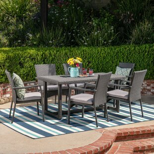 Brucker 7 Piece Dining Set with Cushions by Red Barrel Studio