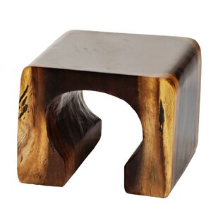 Natural Teak Arch End Table by Ibolili