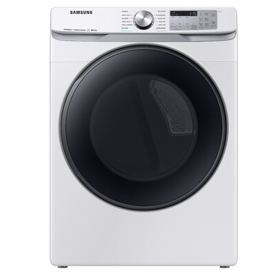 7.5 cu. ft. High Efficiency Electric Dryer with Steam Sanitize+ Samsung Color: White