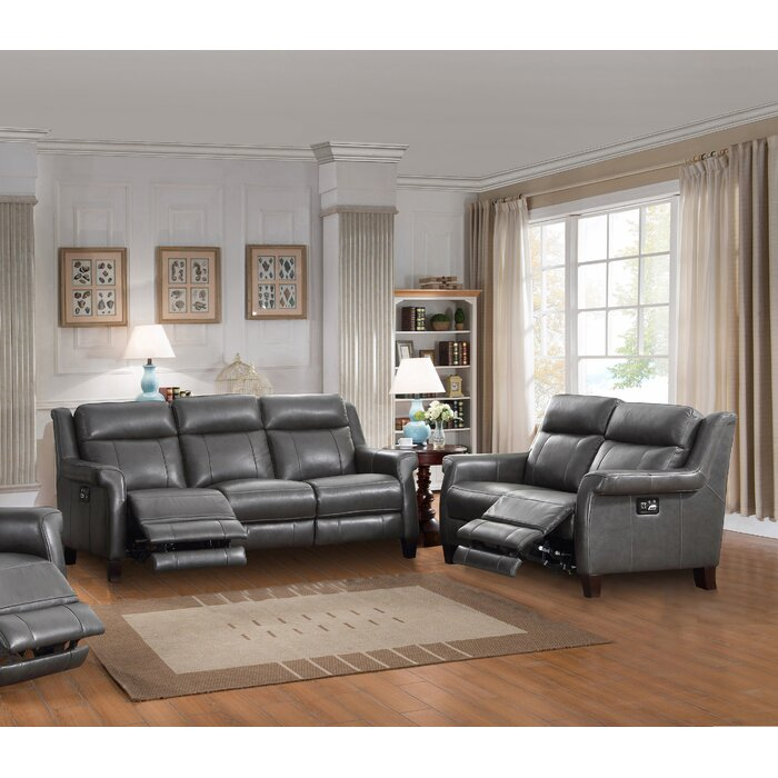 Walkerville Reclining 2 Piece Leather Living Room Set