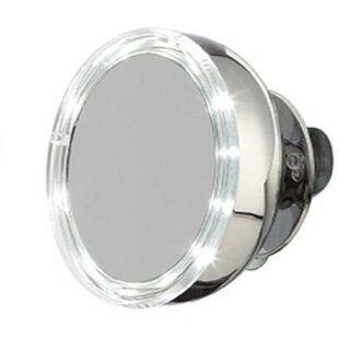 Budget Levering Stainless Steel LED Makeup/Shaving Mirror By Symple Stuff