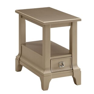 Elana Wooden End Table with Storage
