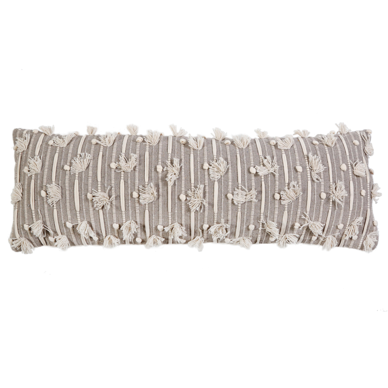 Pom Pom At Home Nora Cotton Feathers Striped Lumbar Pillow Reviews Wayfair