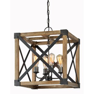 Gracie Oaks Viburnum 4-Light Lantern Pendant