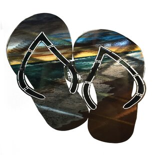 Steel Barbados Beach Flip Flops Wall Décor  sc 1 st  Wayfair & Flip Flop Metal Wall Art | Wayfair