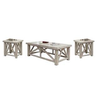 Lark Manor Pamphile 3 Piece Coffee Table Set