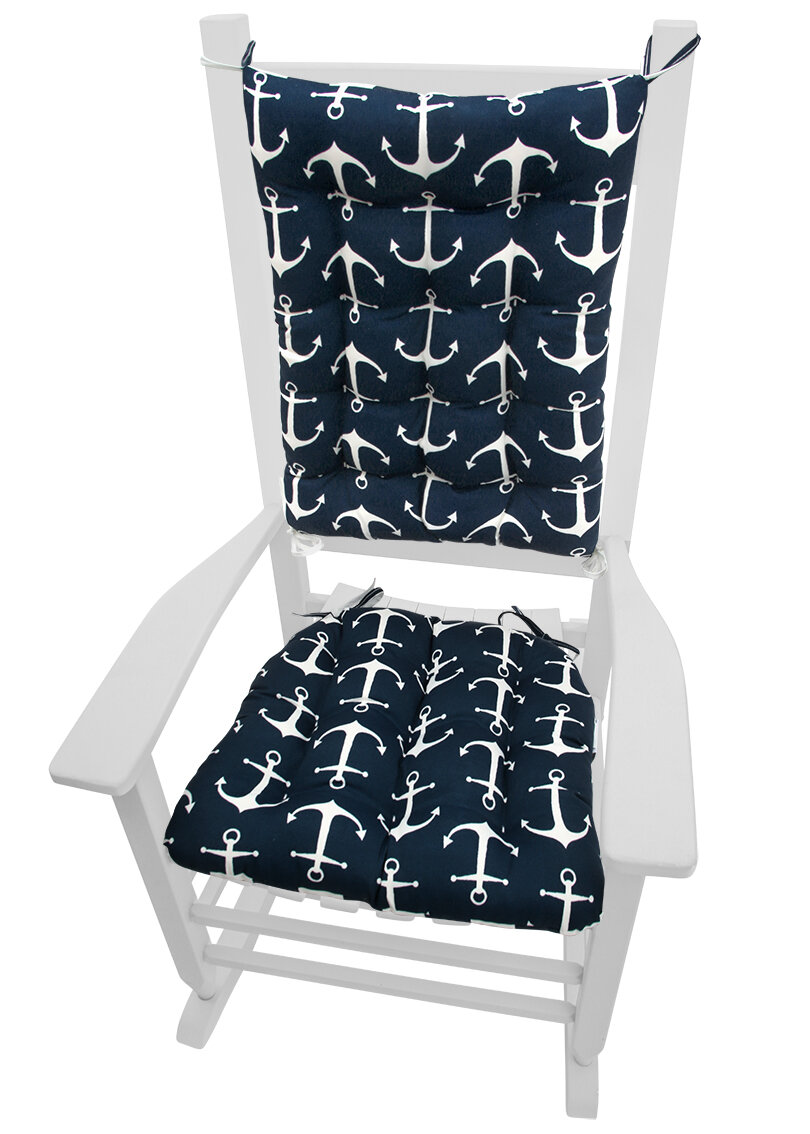 Barnett Home Decor Coastal Indoor Outdoor Rocking Chair Cushion