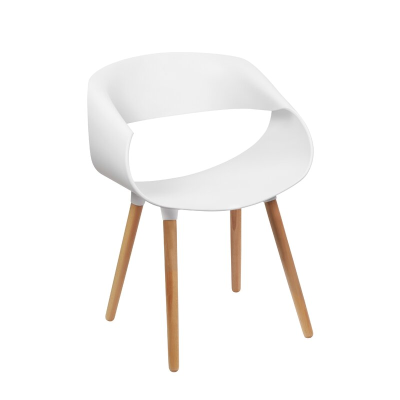 Corrigan Studio Dedrick Side Chair in White (Set of 4)