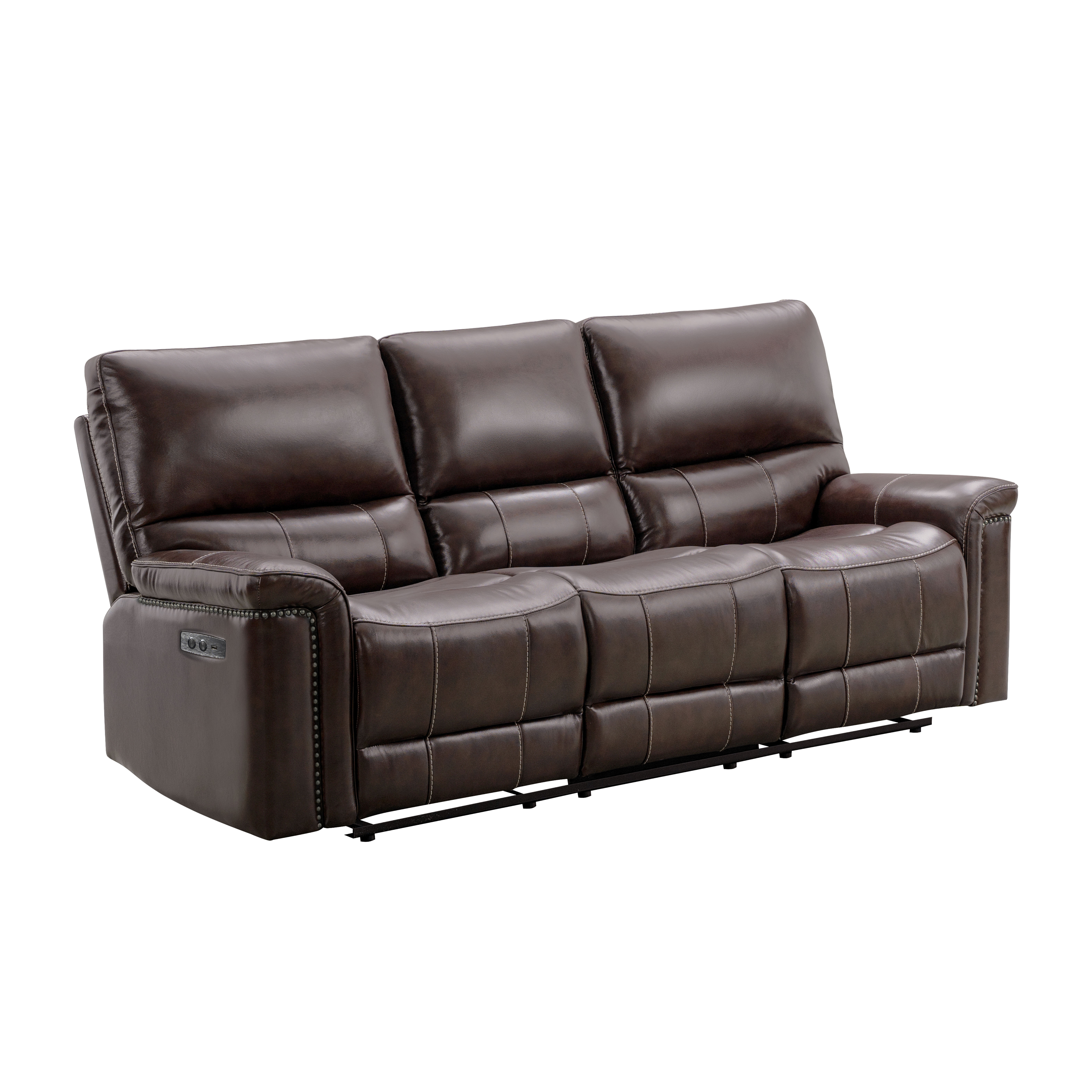 Lark Manor Annemasse 84 Wide Faux Leather Pillow Top Arm Reclining Sofa Wayfair