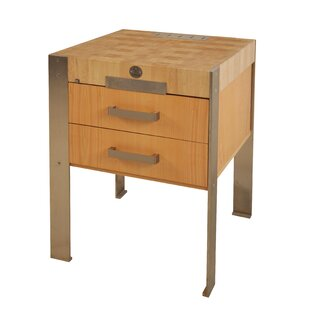 Beckman Kitchen Cart With Wood Top By Williston Forge