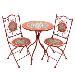 Gladden 3 Piece Bistro Set by Fleur De Lis Living
