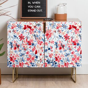 Ninola Liberty Colorful Petals Sideboard by East Urban Home
