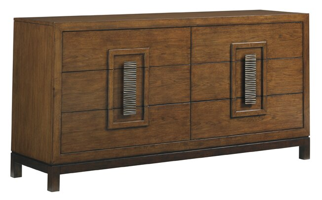 Tommy Bahama Home Island Fusion Heron 6 Drawer Double Dresser