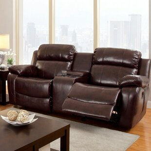 Hawkes Transitional Leather Loveseat by Red Barrel Studio