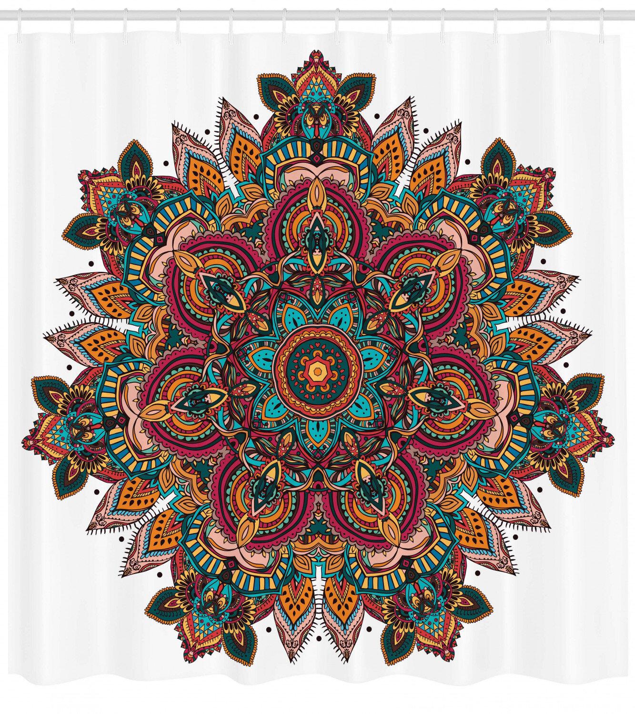 East Urban Home Mandala Shower Curtain Set Hooks Wayfair