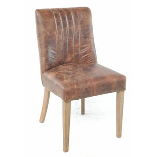 Teterboro Genuine Leather Upholstered Dining Chair
