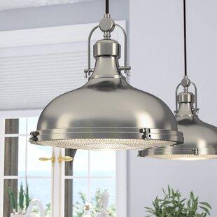 Freeda 1 Light Single Dome Pendant