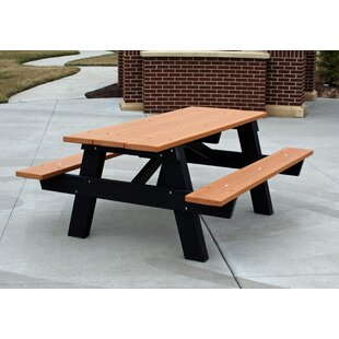 Winthrop Plastic/Resin Picnic Table by Frog Furnishings