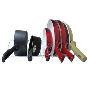 Evelots Long Pot & Lid Storage Rack