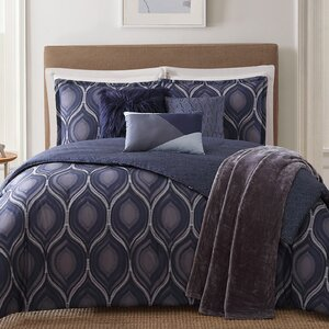 Basti 7 Piece Reversible Comforter Set