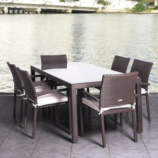 Beachcrest Home Aquia Creek 7 Piece Dining Set