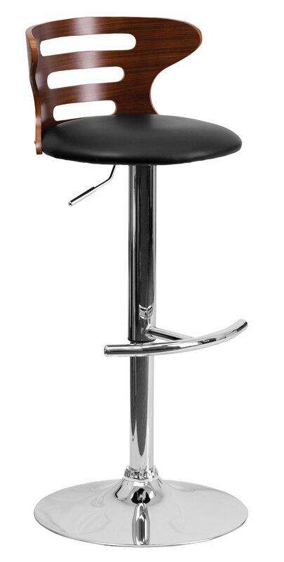 Adjustable Swivel Bar Stool