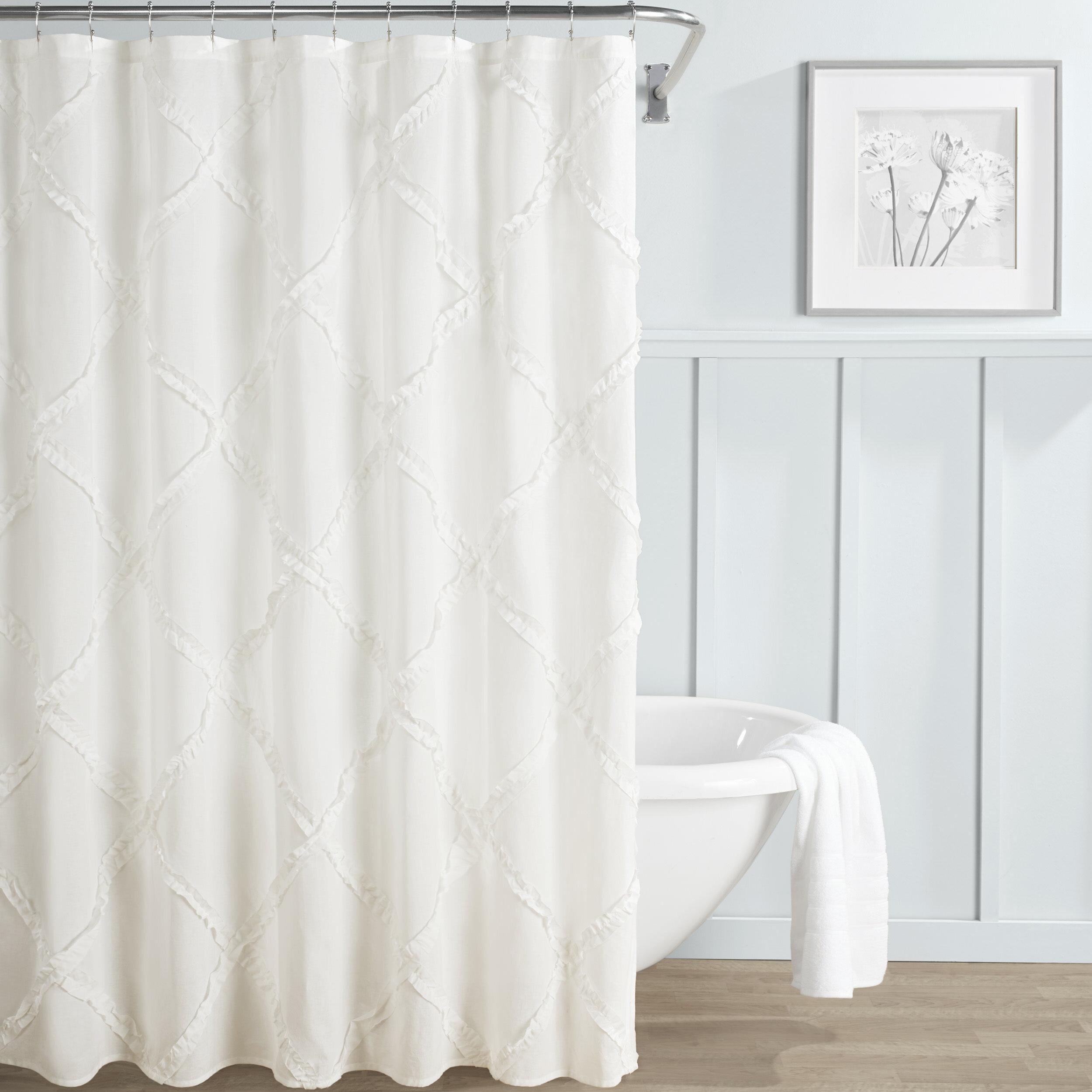 Laura Ashley Adelina 100 Cotton Single Shower Curtain