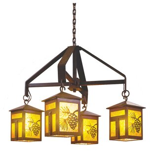 Steel Partners Mission 4-Light Shaded Chandelier