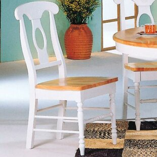 Ezekiel Solid Wood Dining Chair (Set of 2) by August Grove