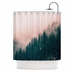 'Pink Haze' Digital Single Shower Curtain