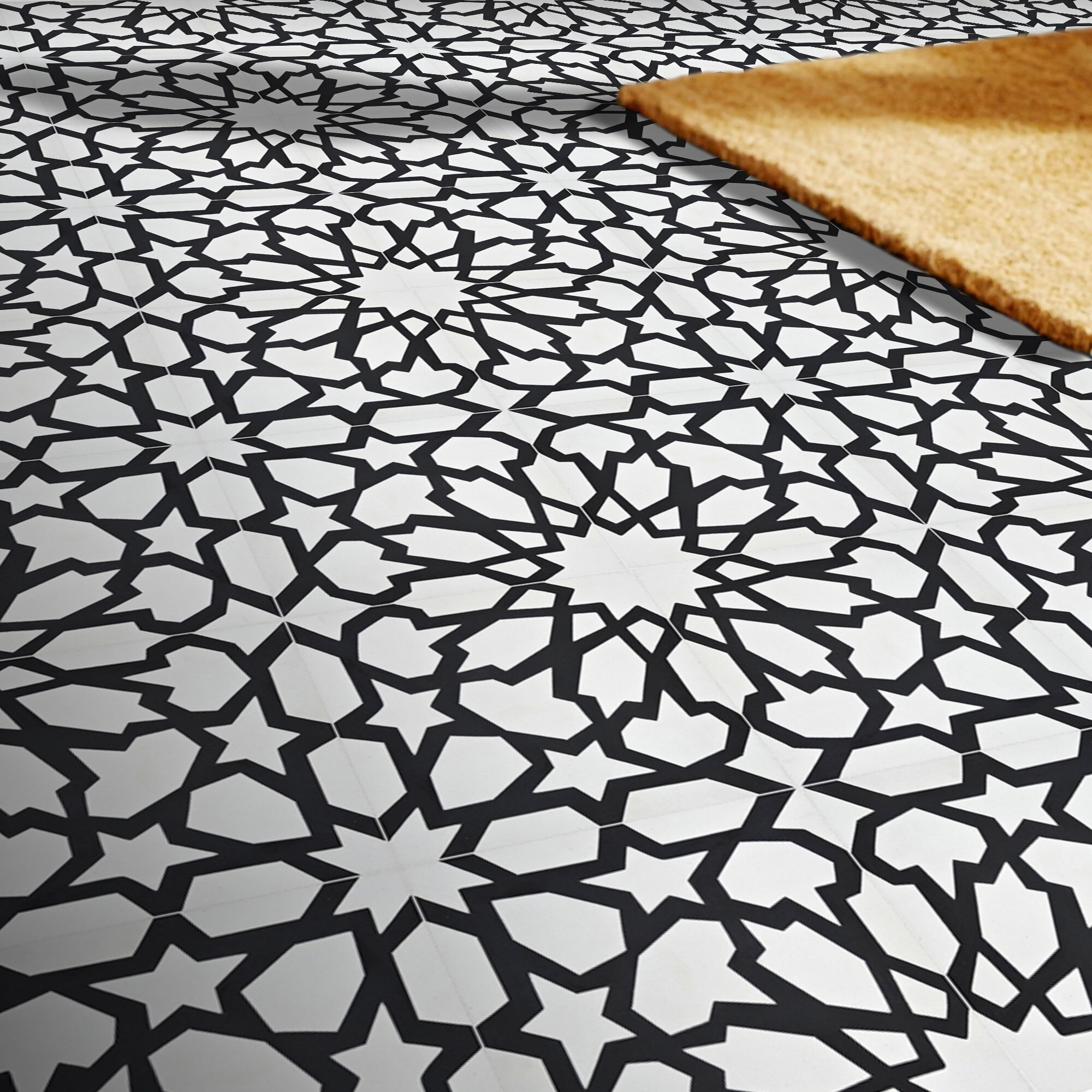 Moroccan Mosaic Tile House Bahja 8 X 8 Cement Patterned Wall Floor Tile Wayfair
