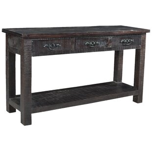 Shop DeGenova 3 Drawer Rectangle Console Table By Loon Peak