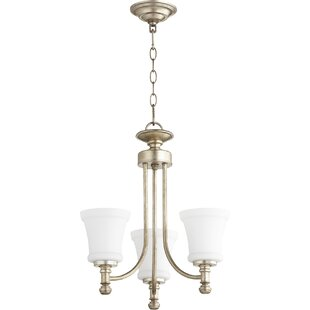 Herman 3-Light Shaded Chandelier by Charlton Home