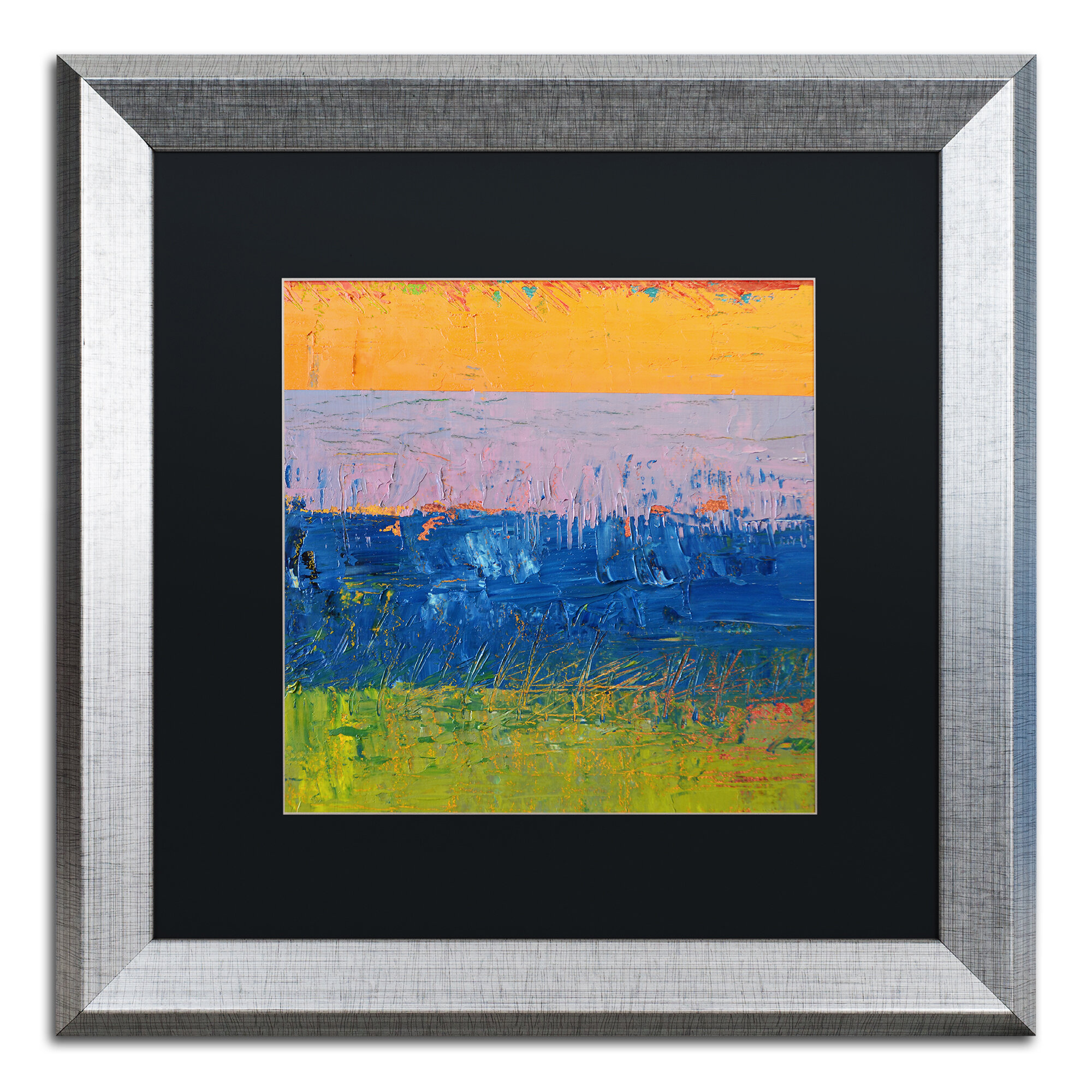 Trademark Art Thistle Field By Michelle Calkins Framed Painting Print Wayfair