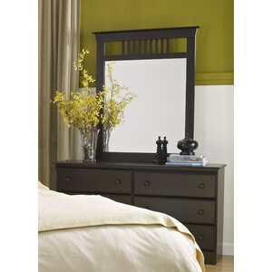 Washburn 6 Drawer Double Dresser with Mirror by Lang Furniture