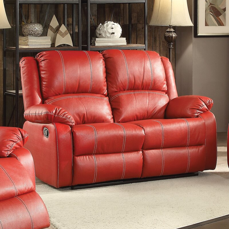 Zuriel Motion Reclining Loveseat : red loveseat recliner - islam-shia.org