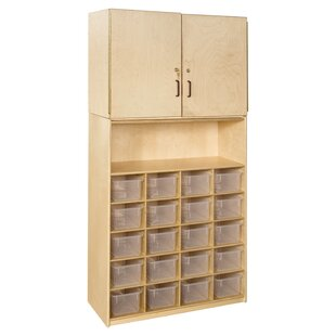 Contender 23 Compartment Classroom Cabinet by Wood Designs