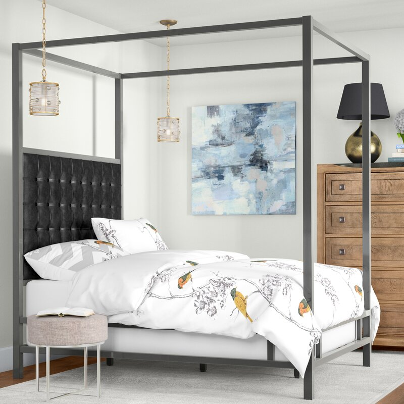 New Gold Canopy Bed Frame