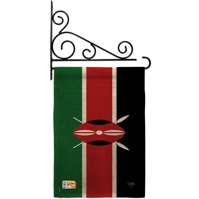 Breeze Decor Kenya 2 Sided Burlap 19 X 13 In Garden Flag Wayfair
