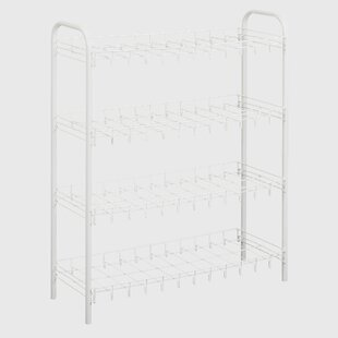 Affordable 4-Tier 12 Pair Shoe Rack By Metaltex