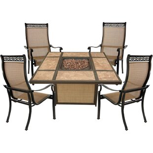 Carlee 5 Piece Multiple Chairs Seating Group
