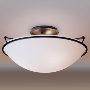 3-Light Semi Flush Mount by Hu..